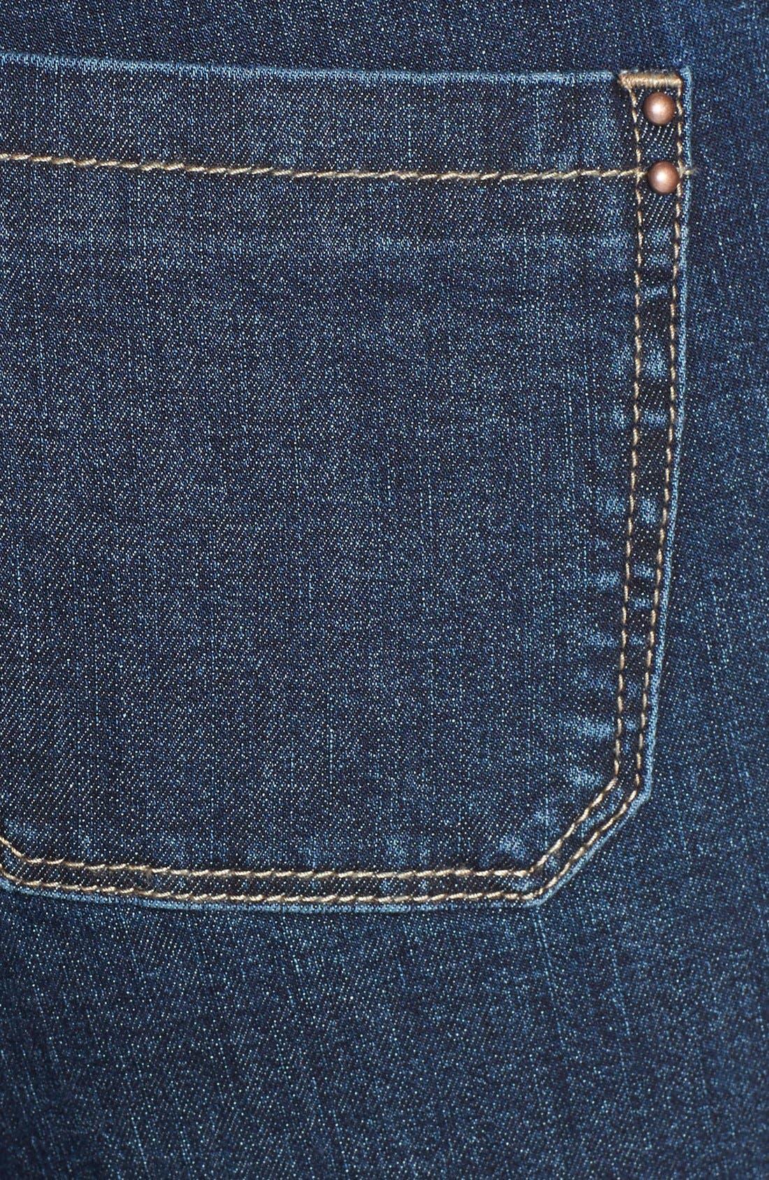 Alternate Image 3  - HART Denim 'Pheona' Wide Leg Trouser Jeans (Carbon) (Juniors)