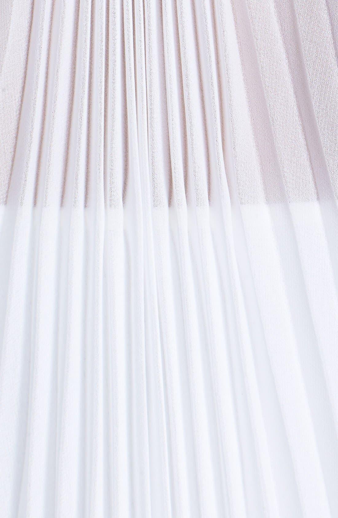 Alternate Image 3  - Elie Tahari 'Hayley' Pleat Back Silk Blouse