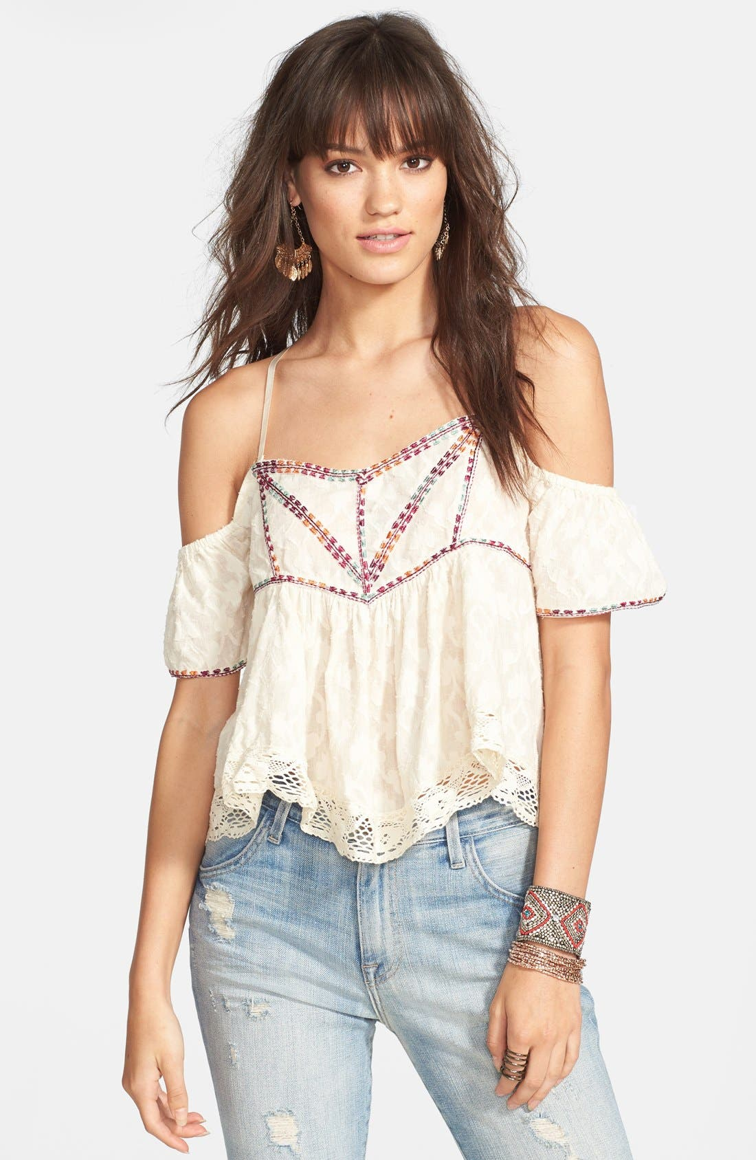 Alternate Image 1 Selected - Free People Cold Shoulder Top