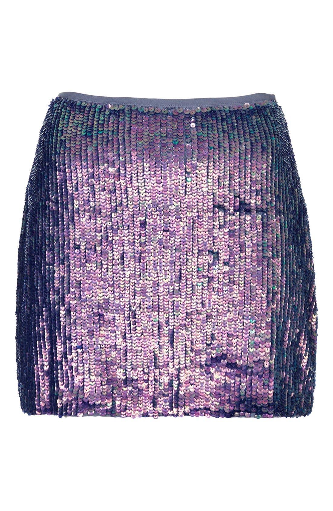 Alternate Image 3  - Topshop Sequin Miniskirt