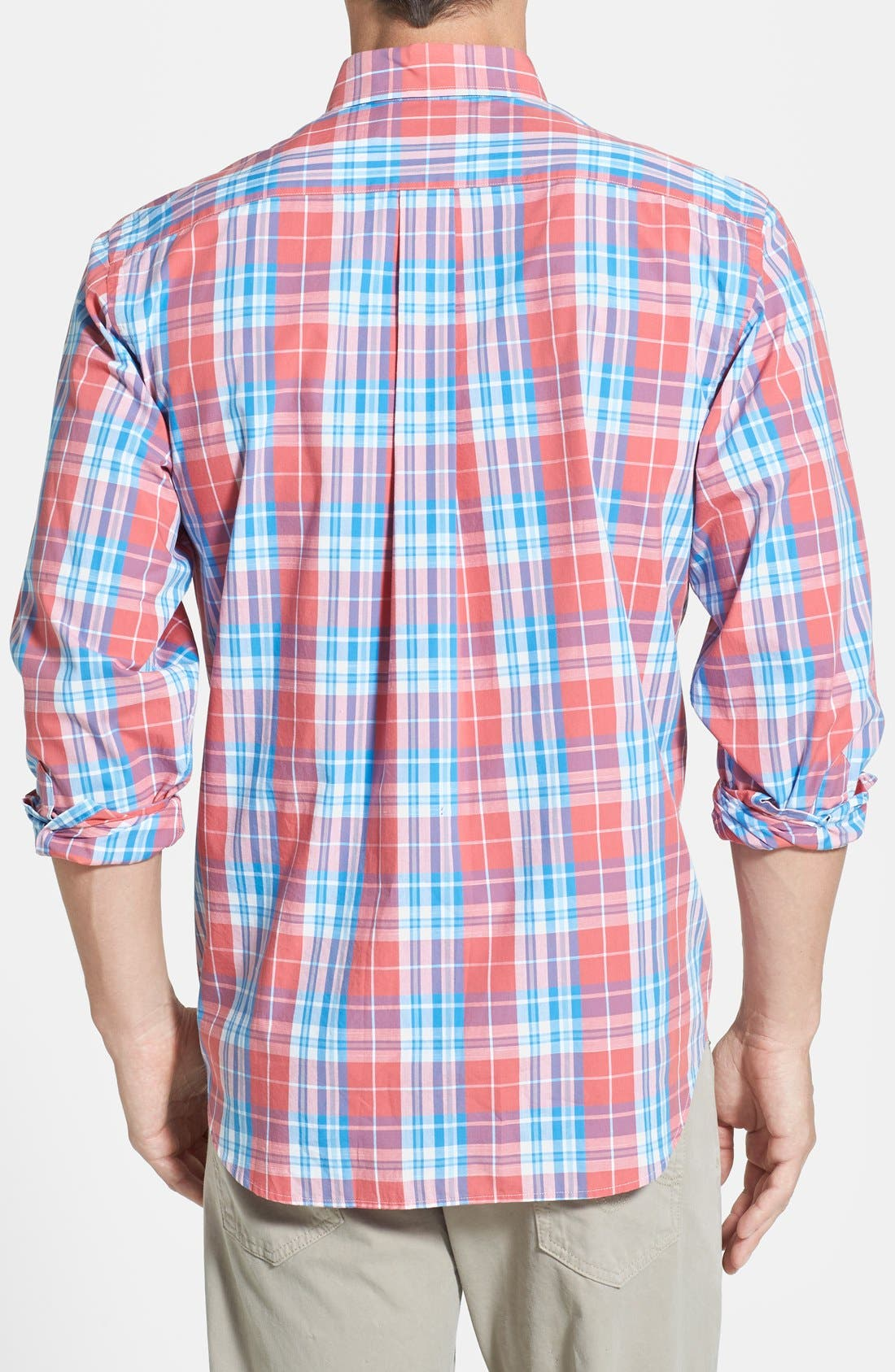 Alternate Image 2  - Vineyard Vines 'Tucker - Ginger Rum' Regular Fit Plaid Sport Shirt