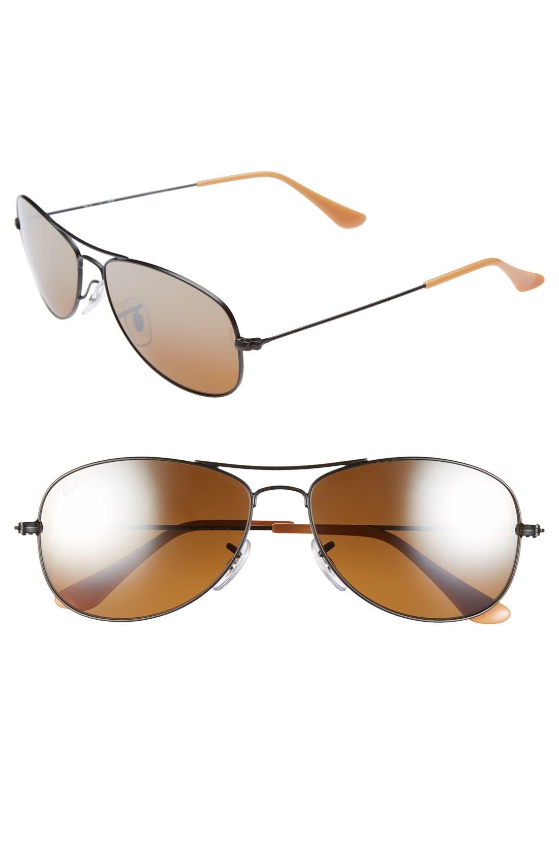 Alternate Image 1 Selected - Ray-Ban 'New Classic' 56mm Aviator Sunglasses