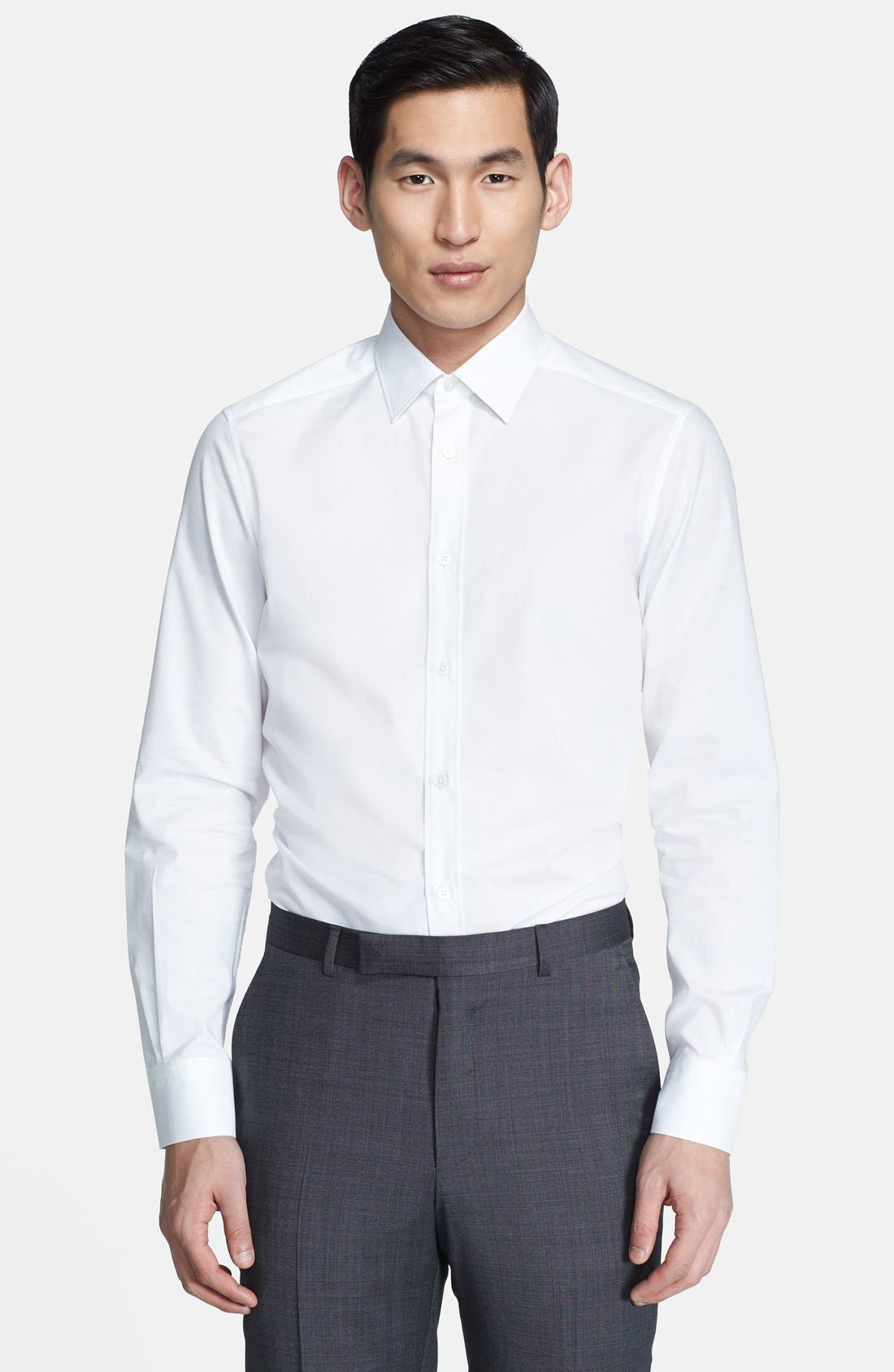 Main Image - Z Zegna Drop 8 Fit Tonal Diamond Print Dress Shirt