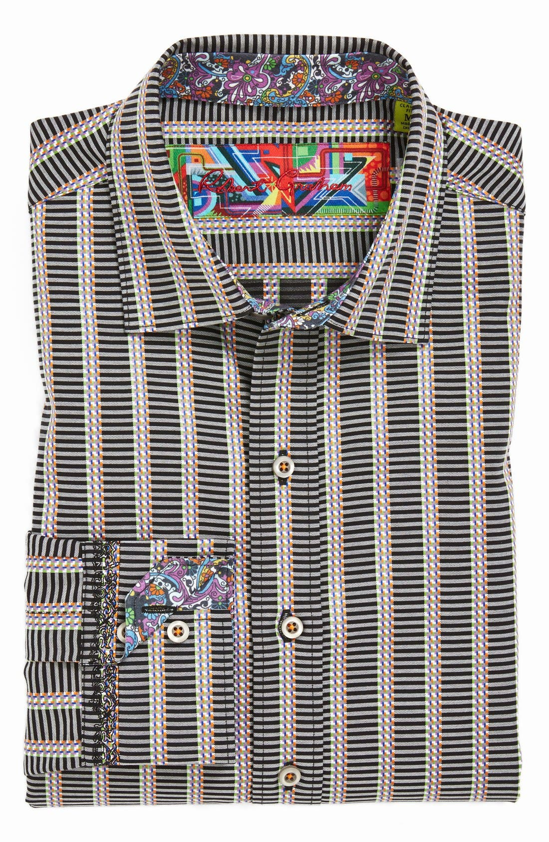 Alternate Image 4  - Robert Graham 'Wesley' Classic Fit Stripe Sport Shirt