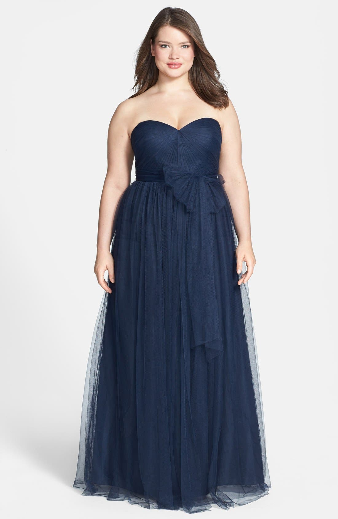 Jenny Yoo 'Annabelle' Convertible Tulle Column Dress (Plus Size)