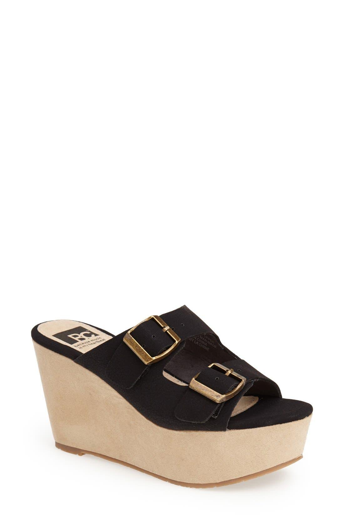 Alternate Image 1 Selected - BC Footwear 'Mayhem' Platform Sandal (Women)