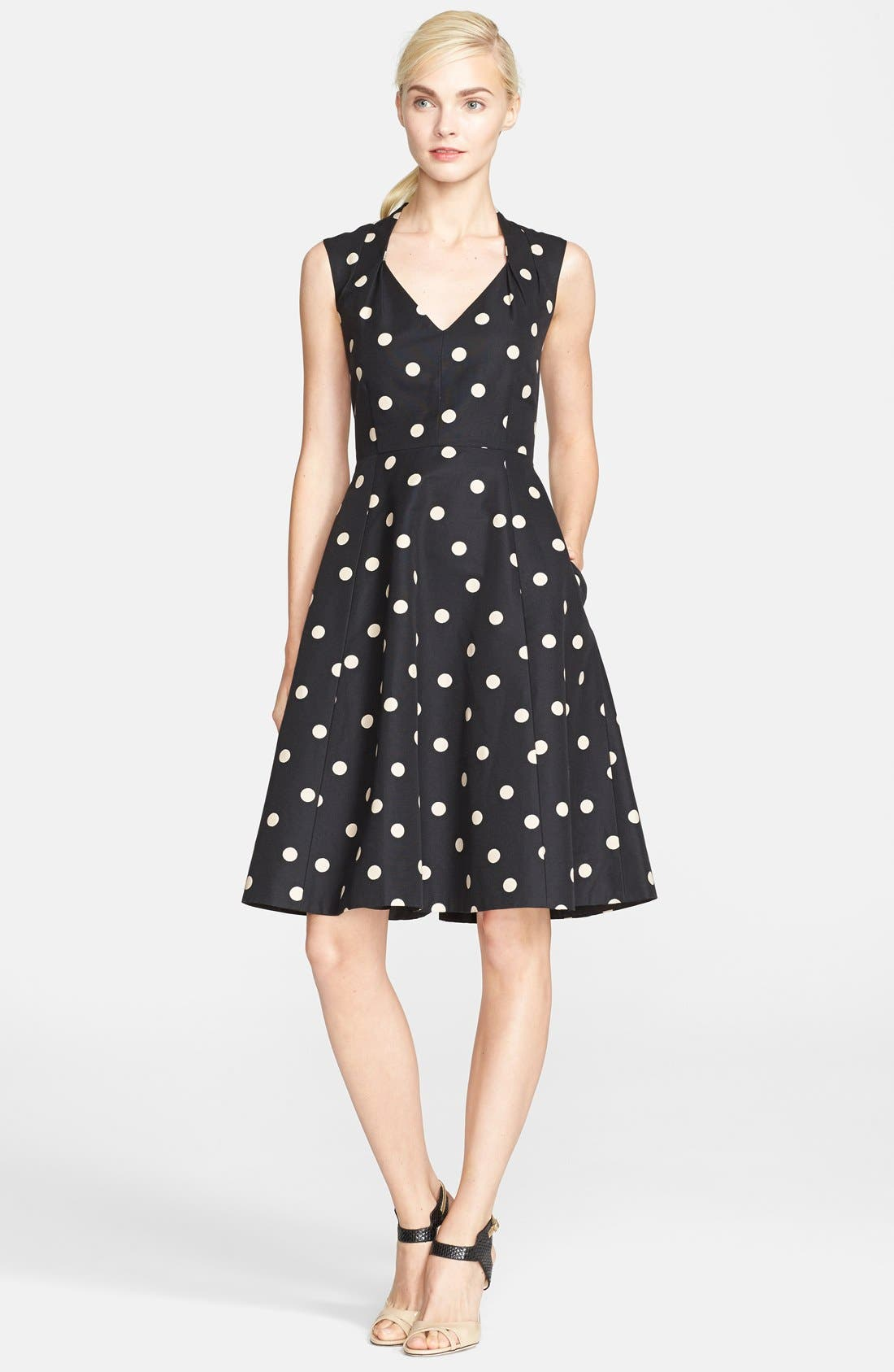 Alternate Image 1 Selected - kate spade new york 'deco dot' fit & flare dress