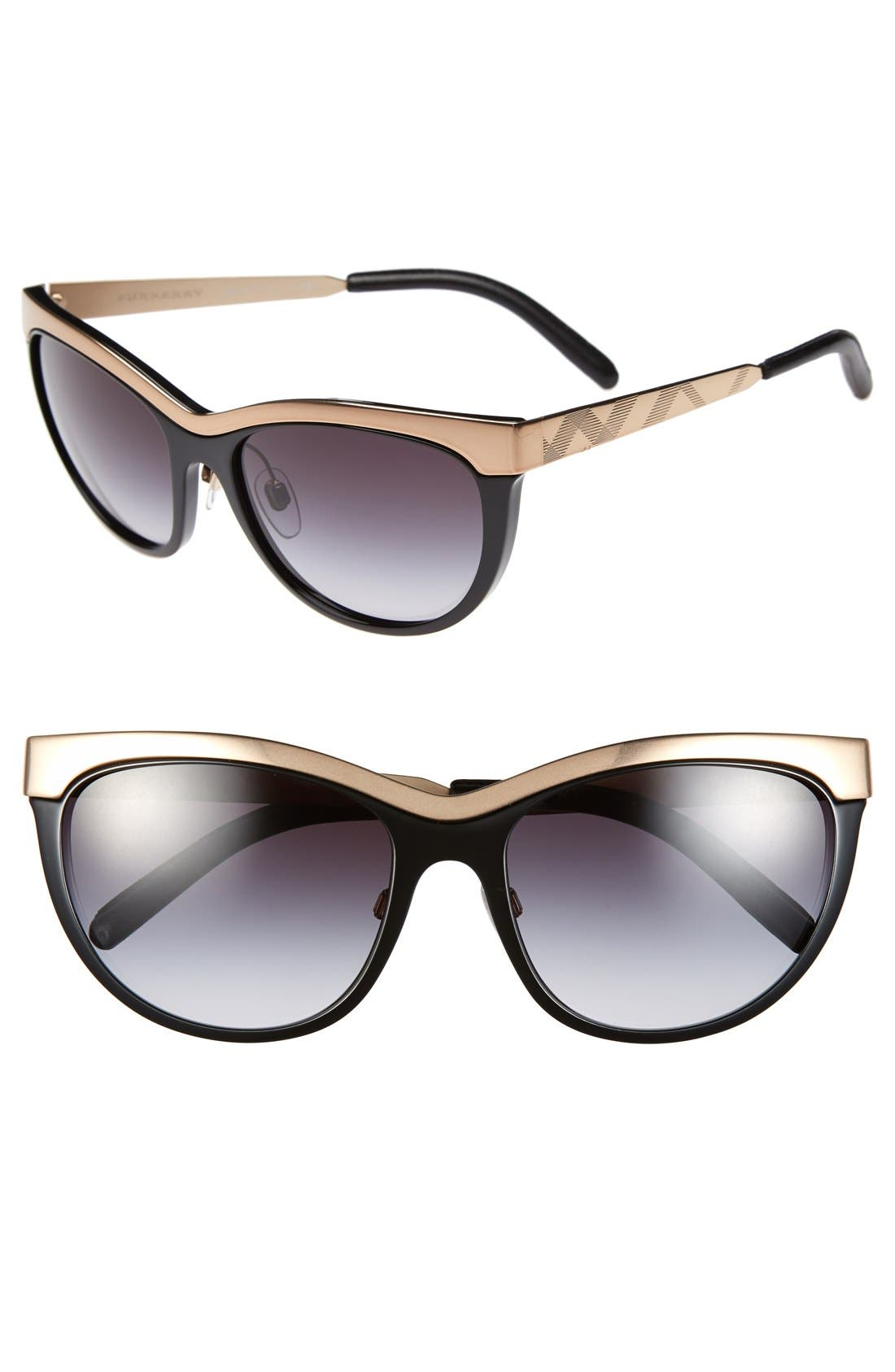 Alternate Image 1 Selected - Burberry 57mm Cat Eye Sunglasses
