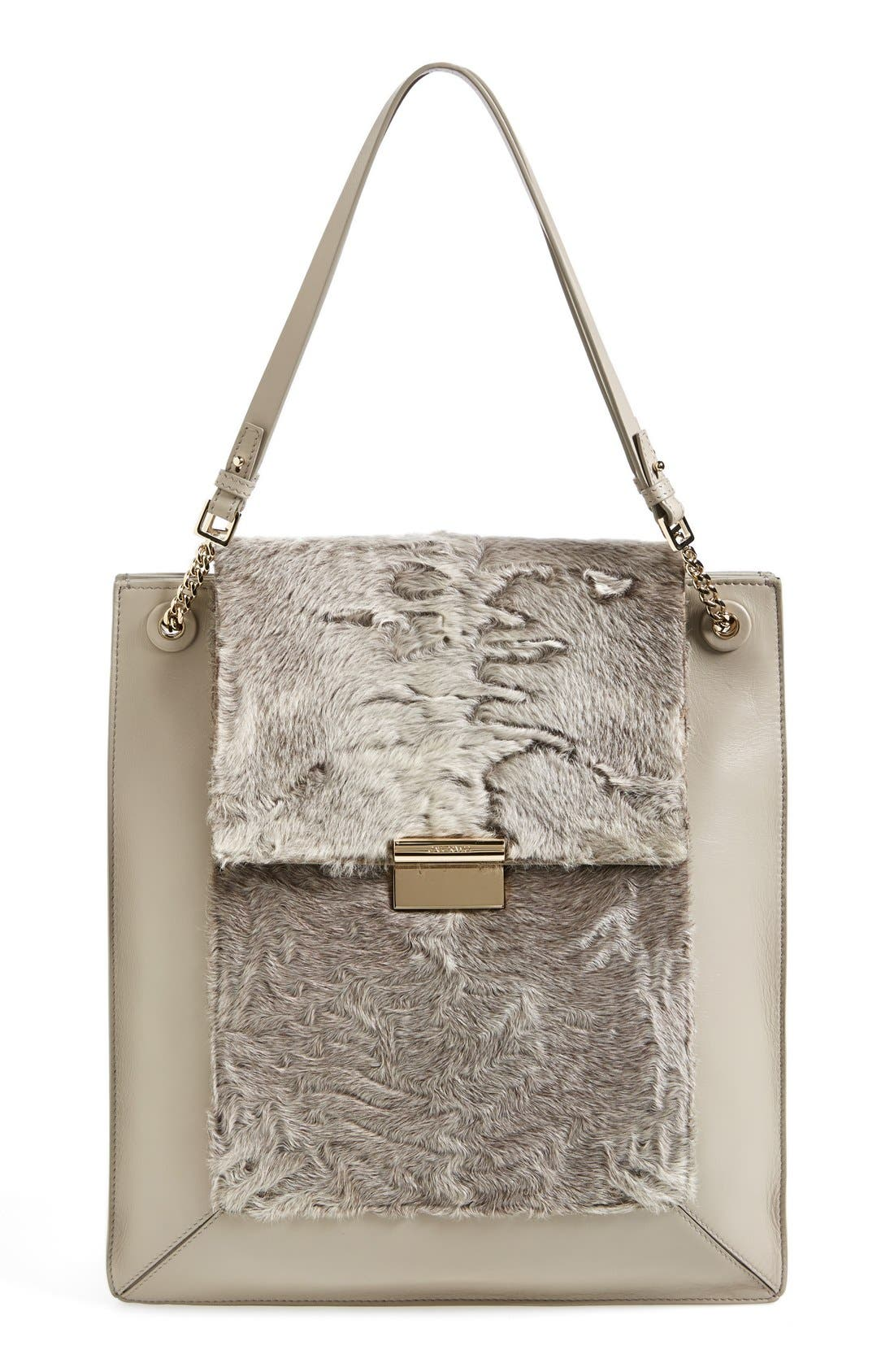 Alternate Image 1 Selected - Jason Wu 'Christy' Leather & Genuine Shearling Tote