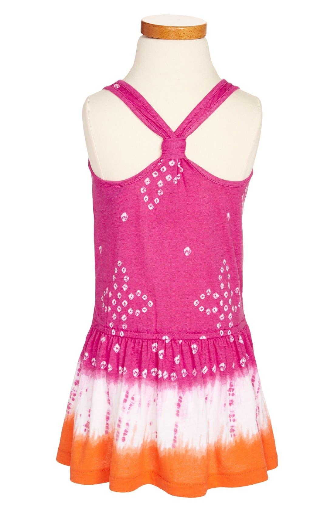 Alternate Image 2  - Ralph Lauren Tie Dye Racerback Drop Waist Cotton Jersey Dress (Toddler Girls)
