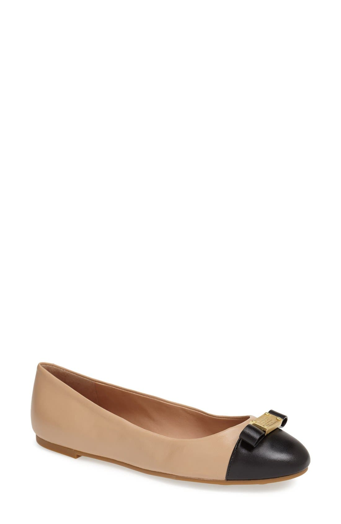 Alternate Image 1 Selected - MARC BY MARC JACOBS Cap Toe Ballet Flat (Women)