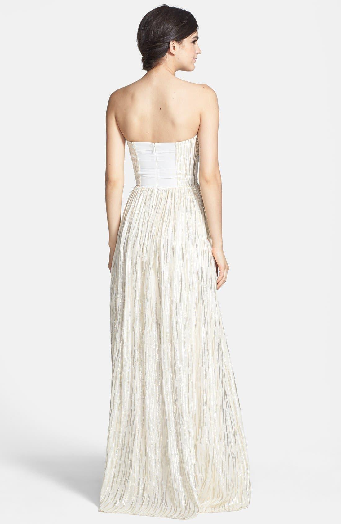 Alternate Image 2  - ERIN erin fetherston 'Coralie' Foiled Silk Chiffon Gown