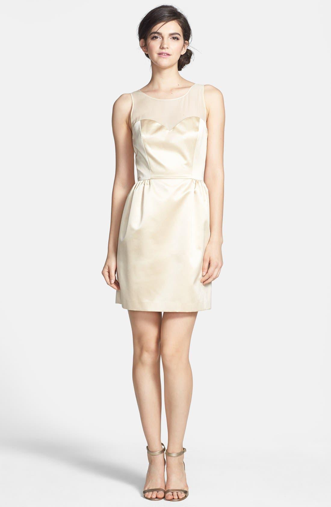 Alternate Image 3  - ERIN erin fetherston 'Winona' Bow Detail Peau de Soie Sheath Dress