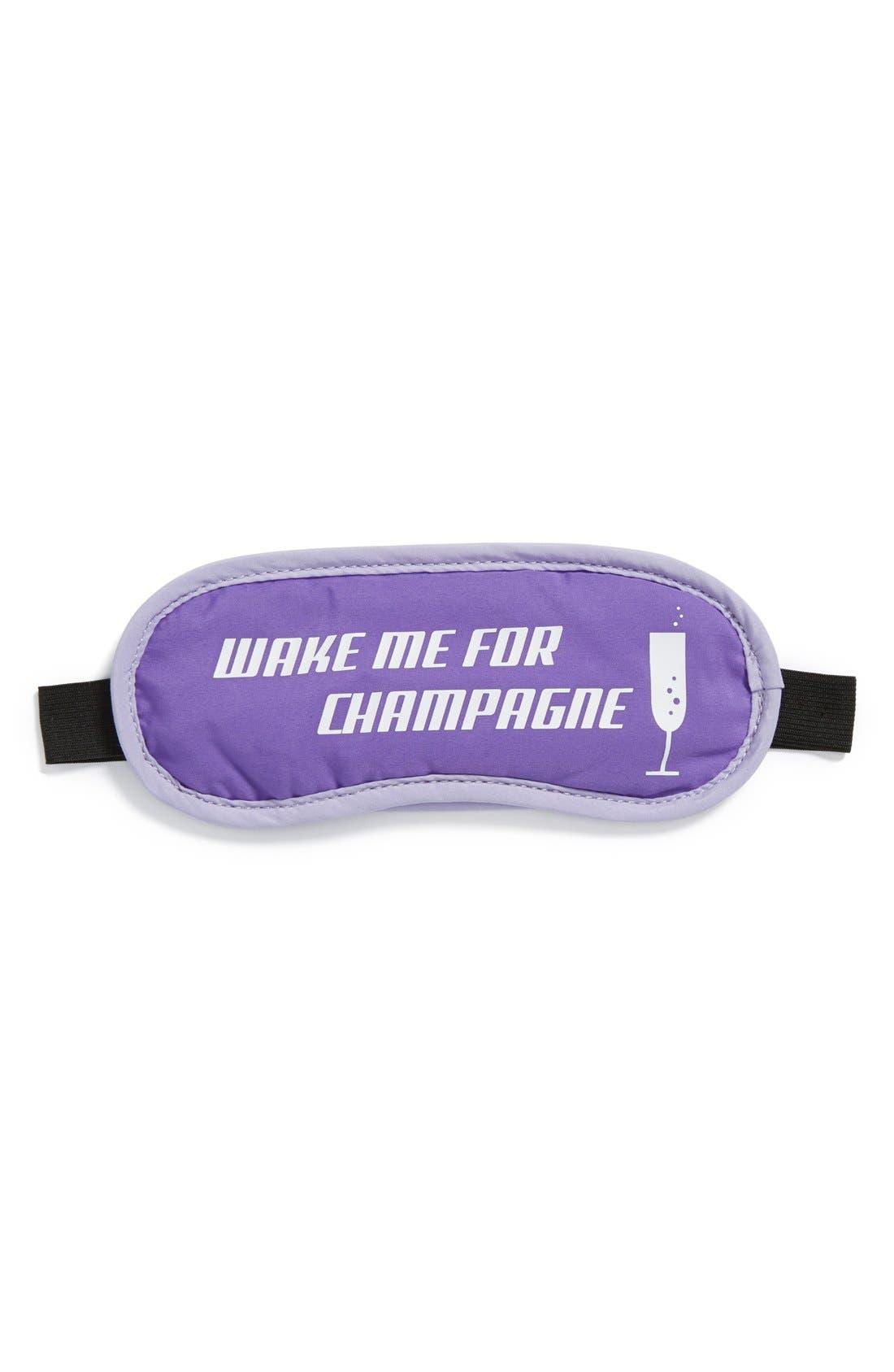 Alternate Image 1 Selected - Flight 001 'Wake Me for Champagne' Sleep Mask