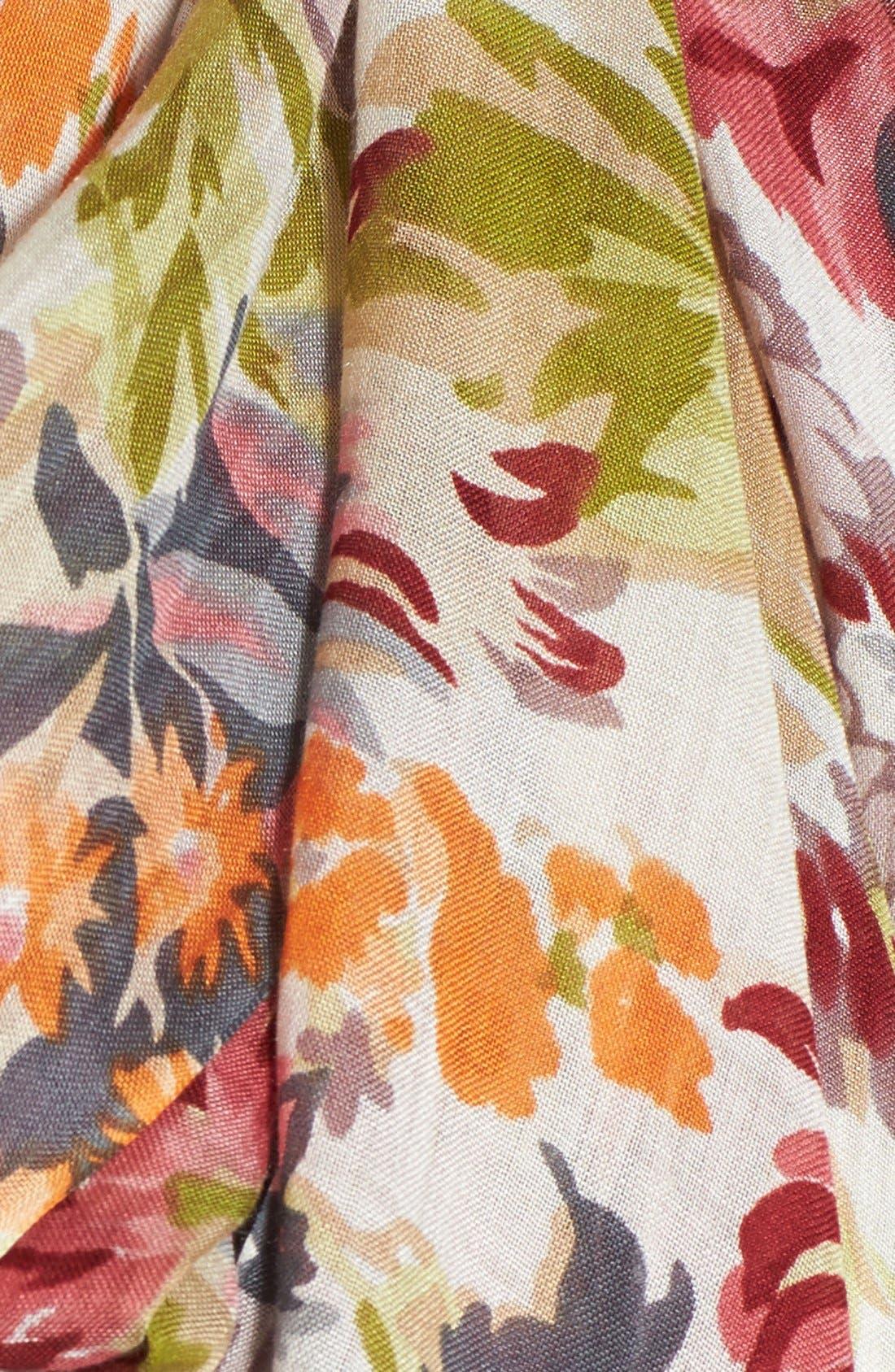 Alternate Image 2  - Lucky Brand Floral Print Modal Scarf