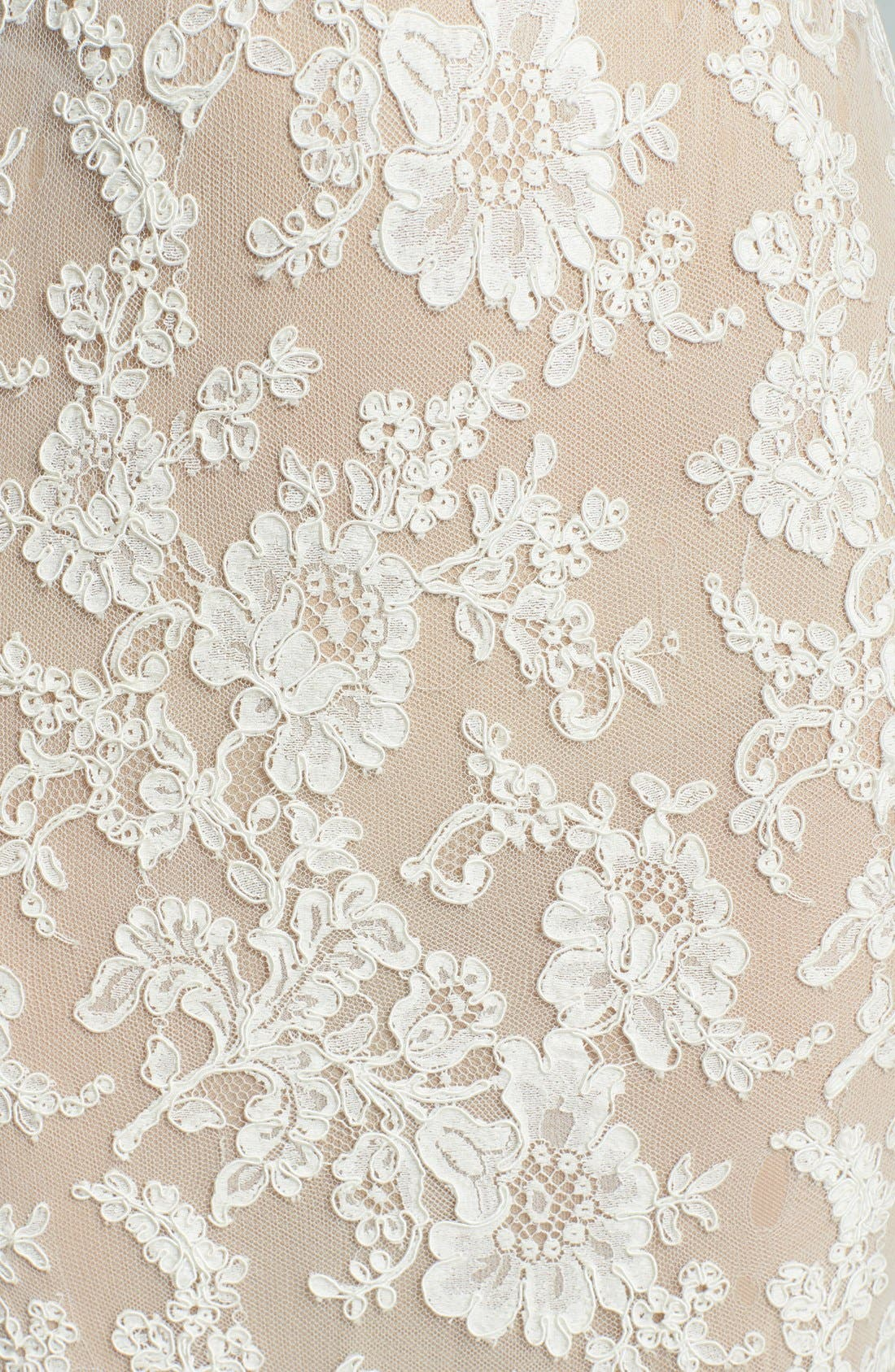 Alternate Image 3  - Reem Acra 'Emma' Embroidered Waist Lace Column Gown (In Stores Only)