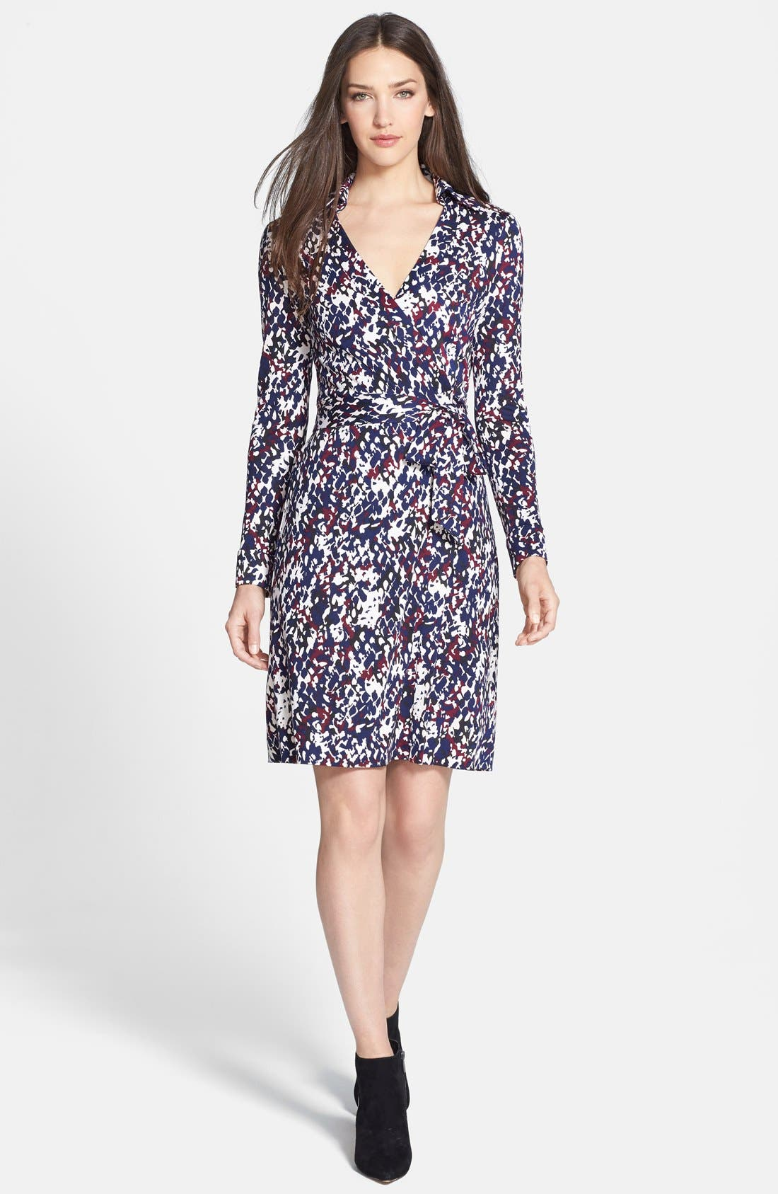 Alternate Image 1 Selected - Diane von Furstenberg 'New Jeanne Two' Print Silk Wrap Dress
