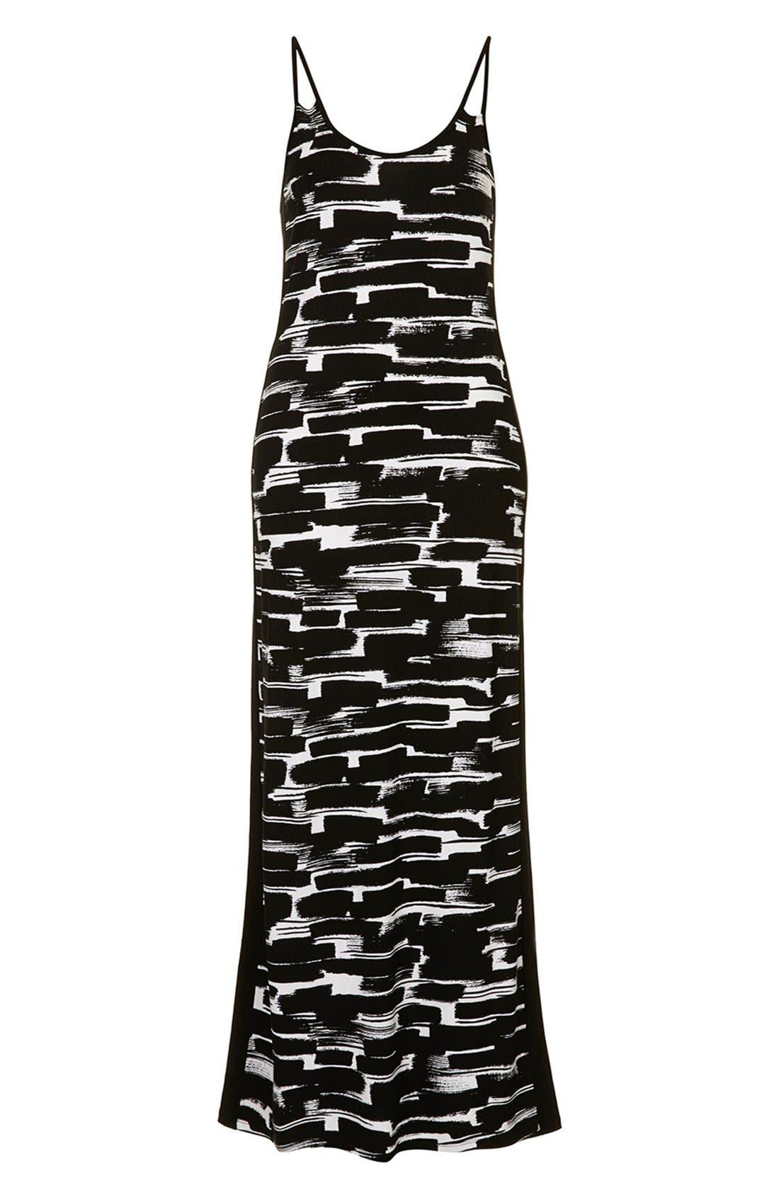 Alternate Image 3  - Topshop Print Cutout Maxi Dress