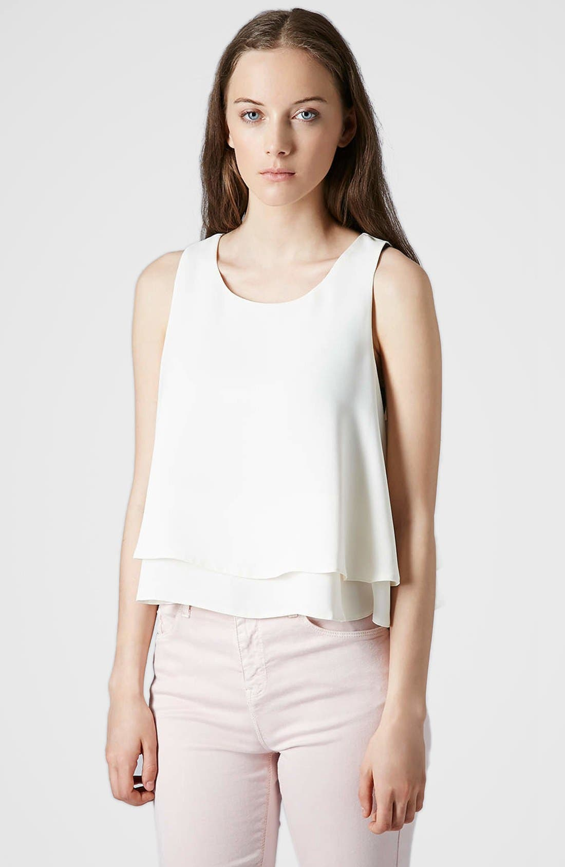 Alternate Image 1 Selected - Topshop Double Hem Crop Tank