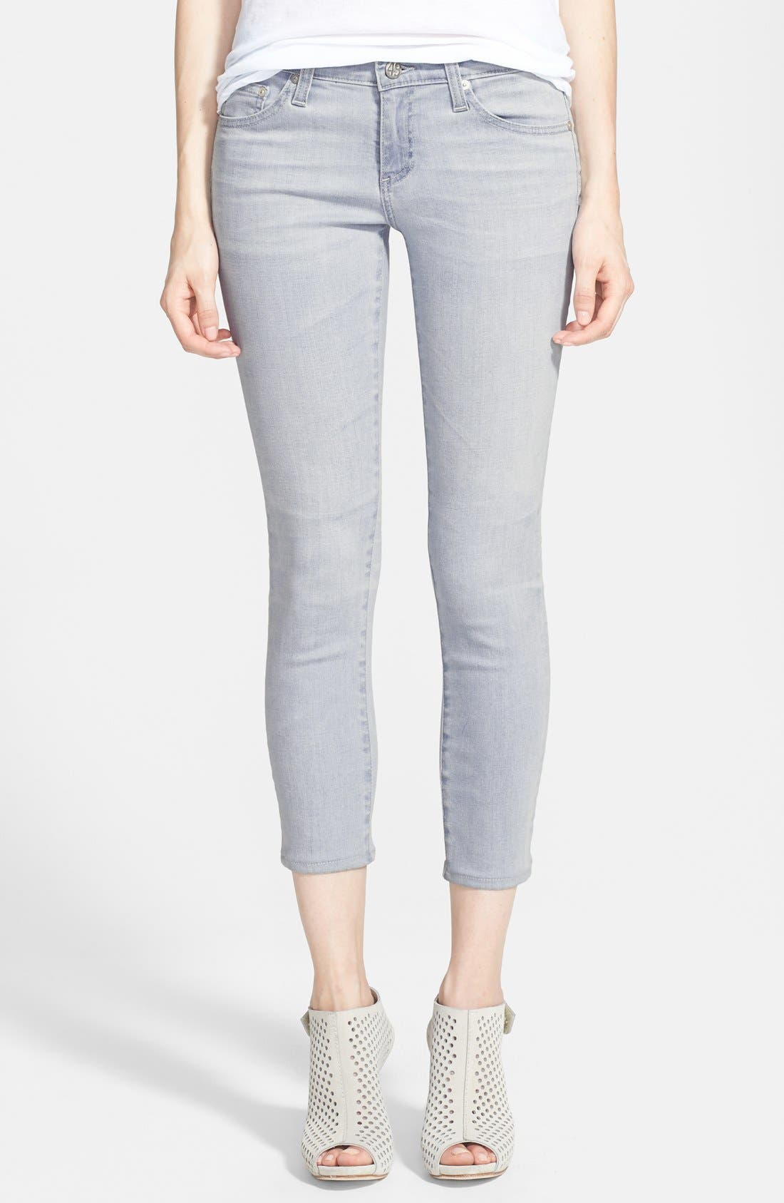 Main Image - AG Jeans 'The Stilt' Crop Skinny Stretch Jeans (22 Year Wanderer)