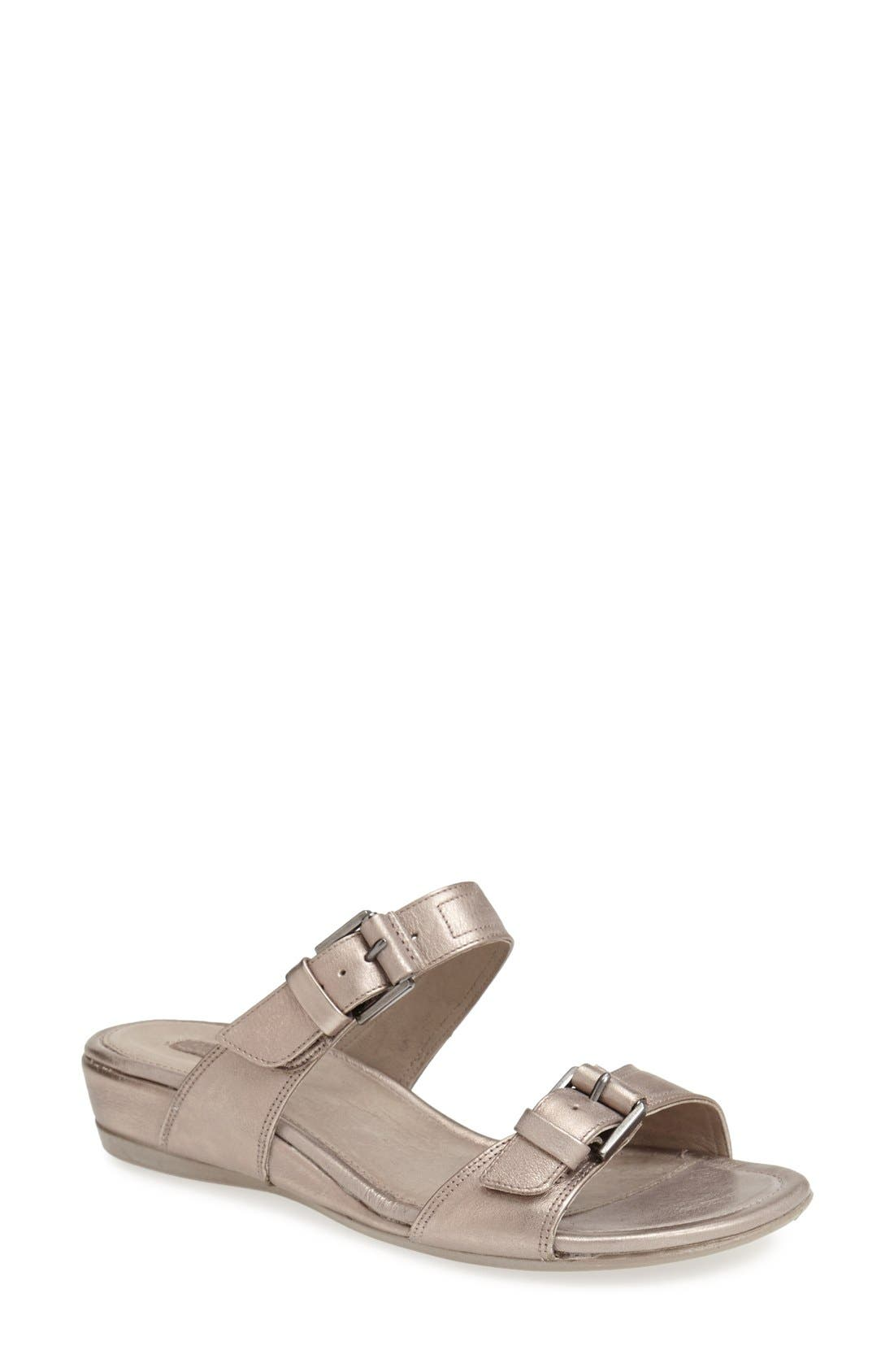 Alternate Image 1 Selected - ECCO 'Touch 25' Leather Slide Sandal