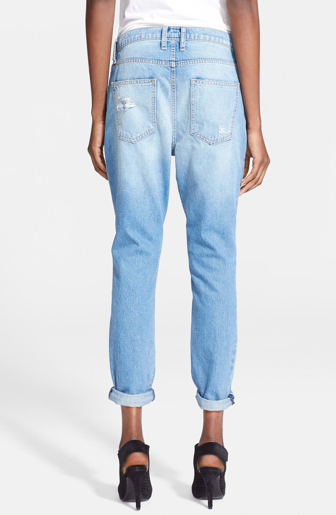 Alternate Image 2  - Current/Elliott 'The Fling' Destroyed Crop Jeans (Kasey with Repair)