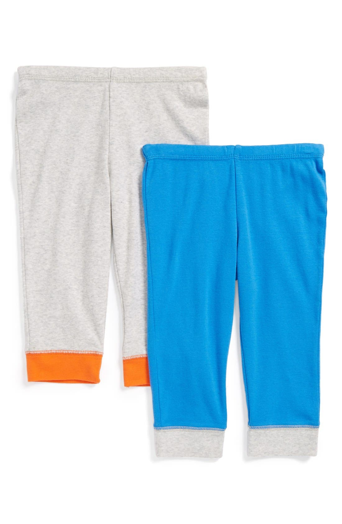 Alternate Image 1 Selected - Stem Baby Colorblock Organic Cotton Pants (Set of 2) (Baby Boys) (Nordstrom Exclusive)