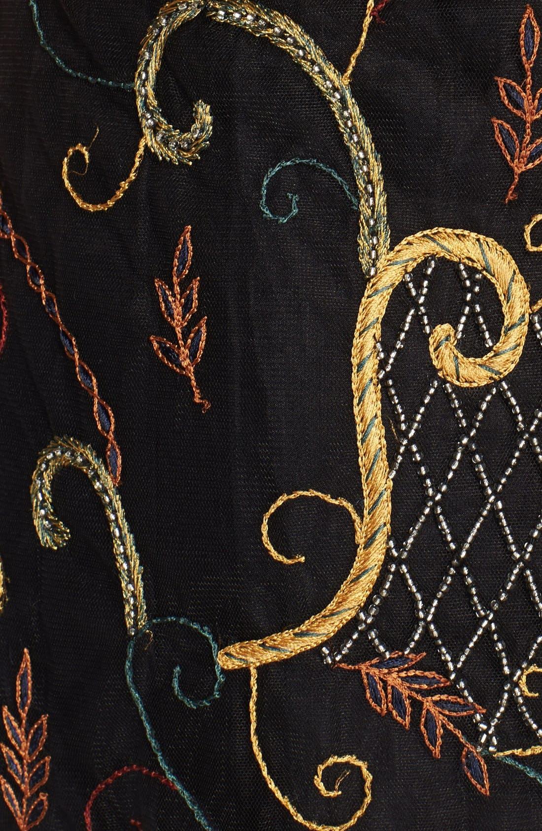 Alternate Image 3  - Alice + Olivia 'Drina' Embellished Chiffon Shift Dress