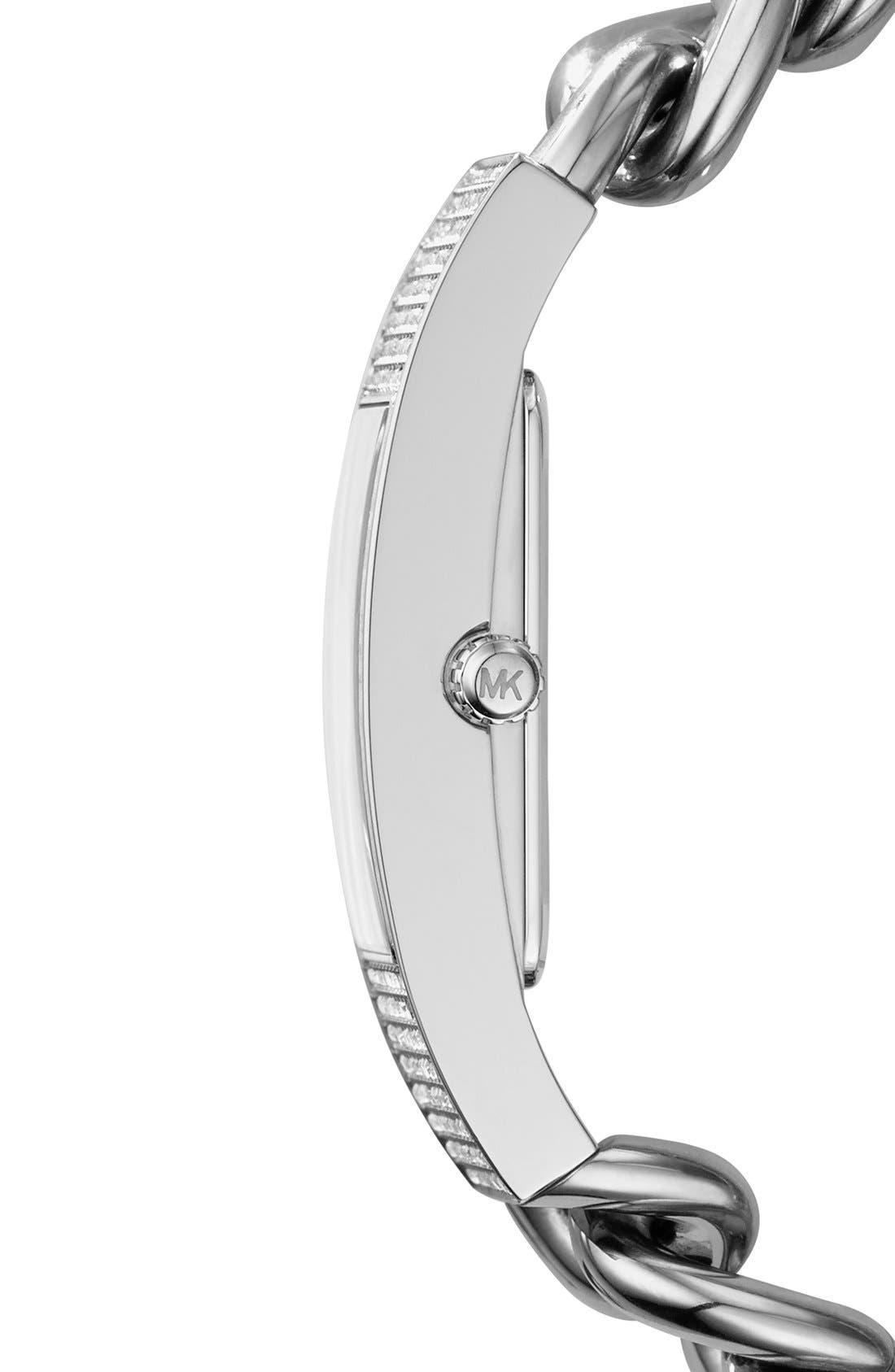 Alternate Image 3  - Michael Kors 'Hayden' Pavé Crystal Chain Link Bracelet Watch, 16mm