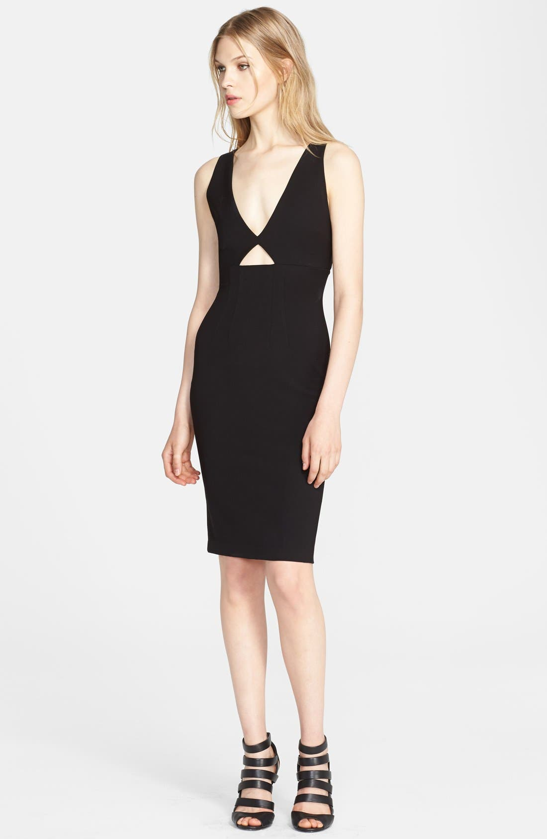 Main Image - Alice + Olivia 'Yve' Cutout Sheath Dress