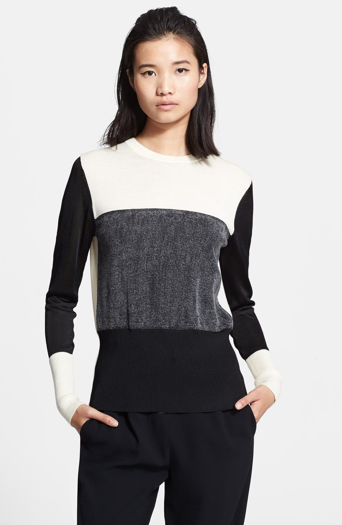 Main Image - rag & bone 'Marissa' Colorblock Sweater