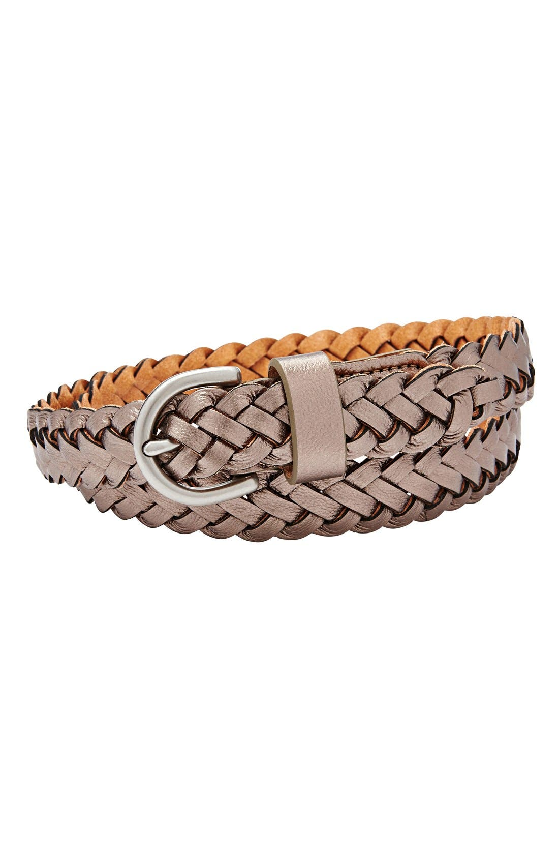 Main Image - Fossil Woven Leather Belt