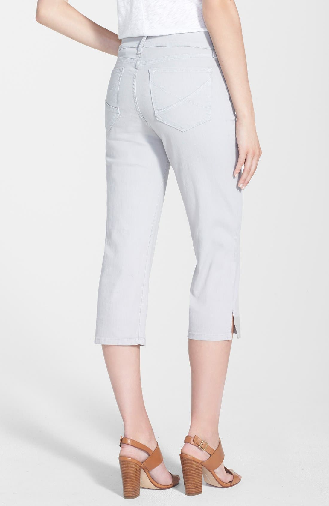 Alternate Image 2  - NYDJ 'Hayden' Stretch Cotton Crop Pants (Regular & Petite)