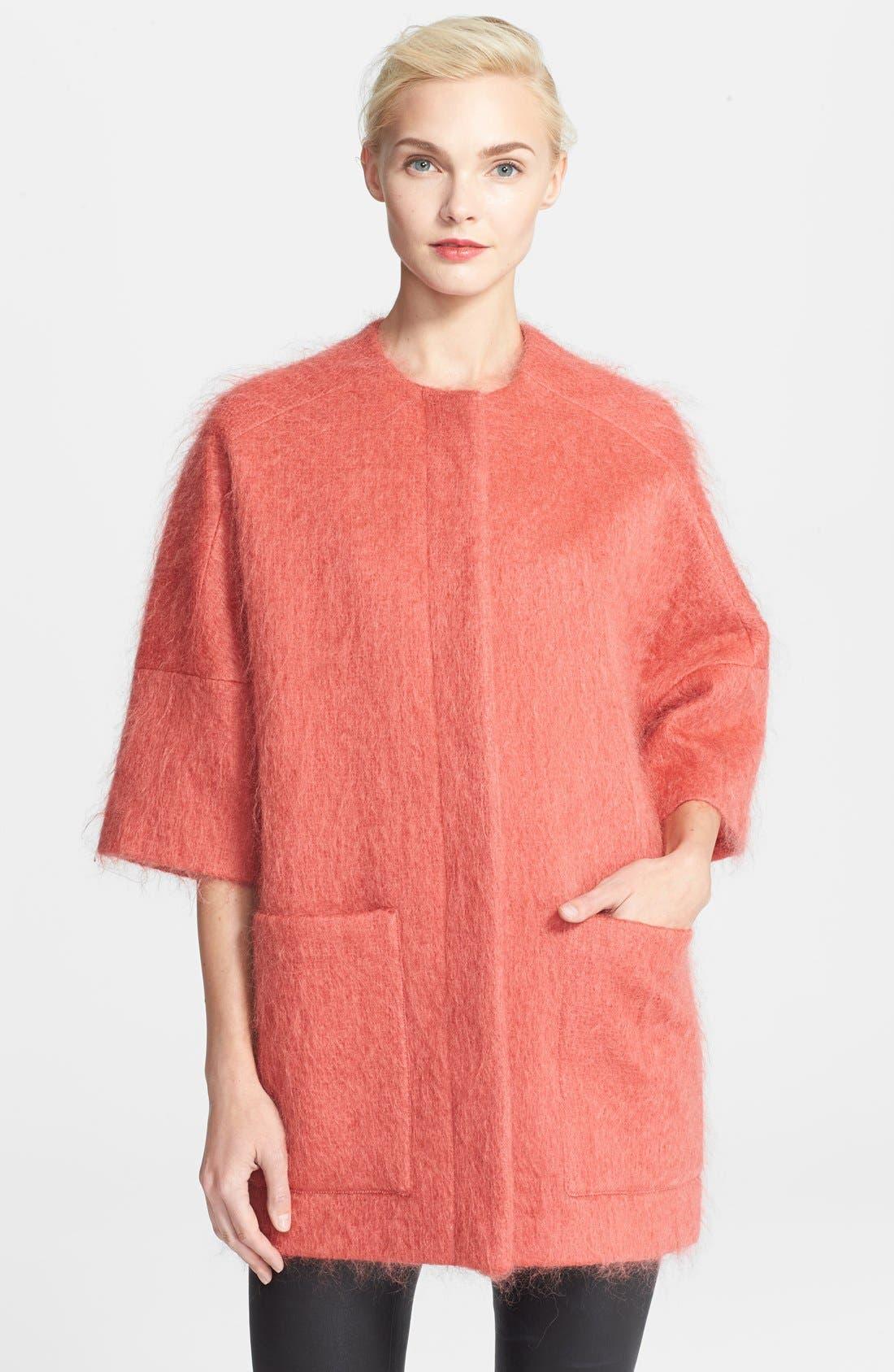 Main Image - Helene Berman Mohair Kimono Coat