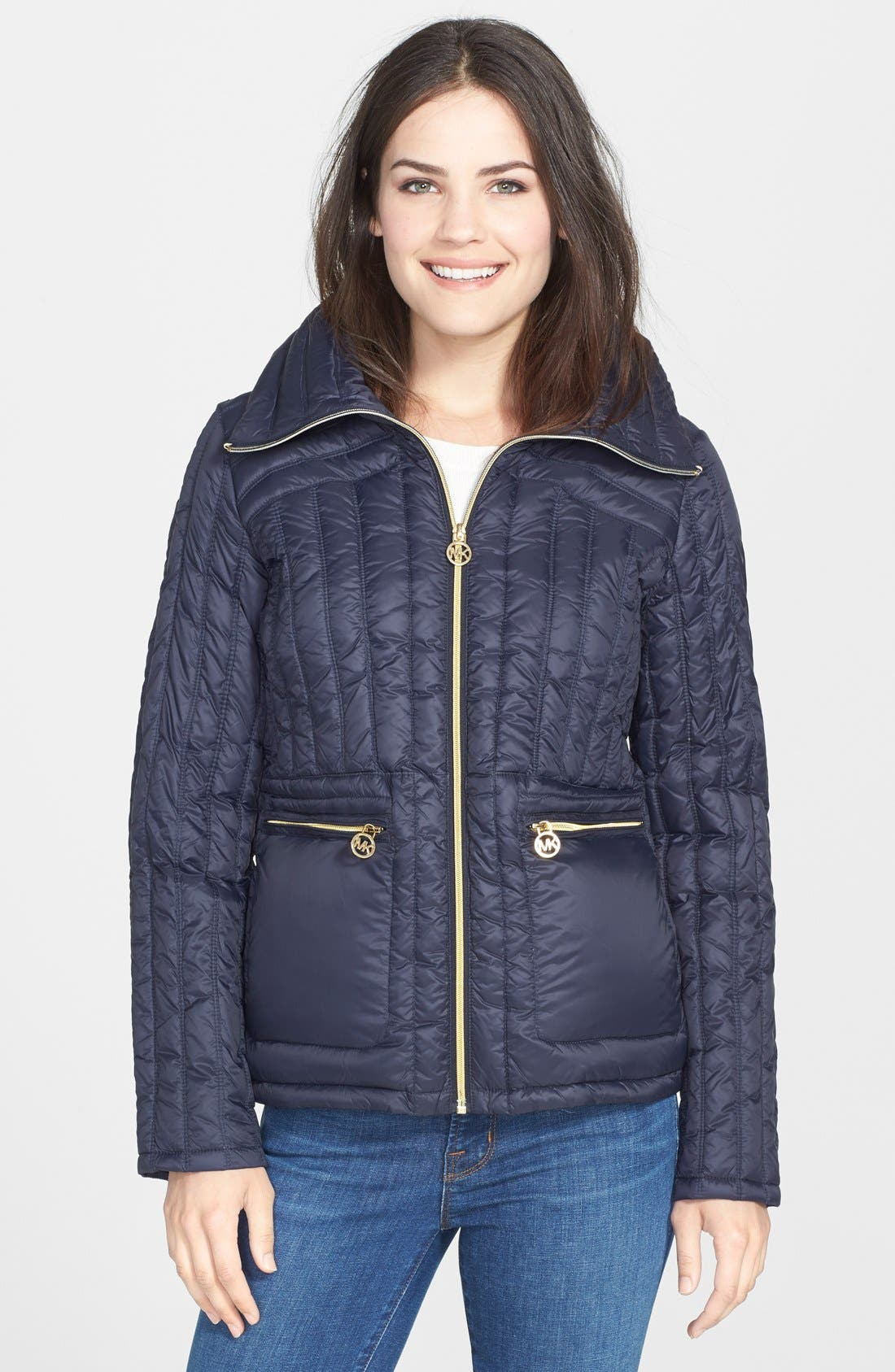 Alternate Image 1 Selected - MICHAEL Michael Kors Wing Collar Down Anorak (Online Only)
