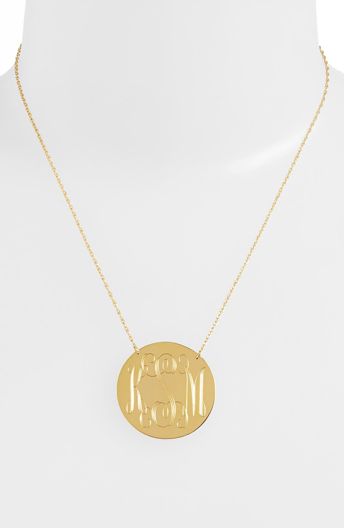 Alternate Image 2  - Moon and Lola Personalized Script Monogram Pendant Necklace (Online Only)