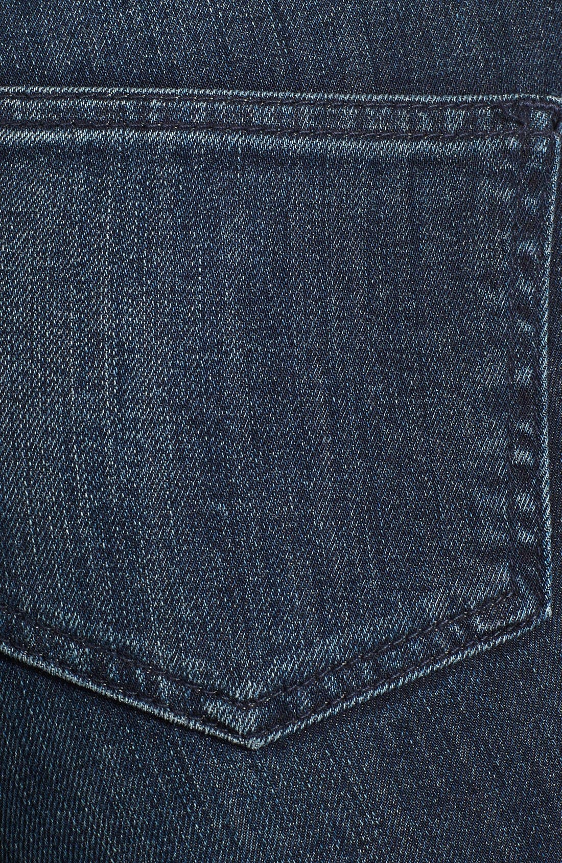 Alternate Image 3  - BLK DNM Zip Detail Skinny Jeans (Water Blue)