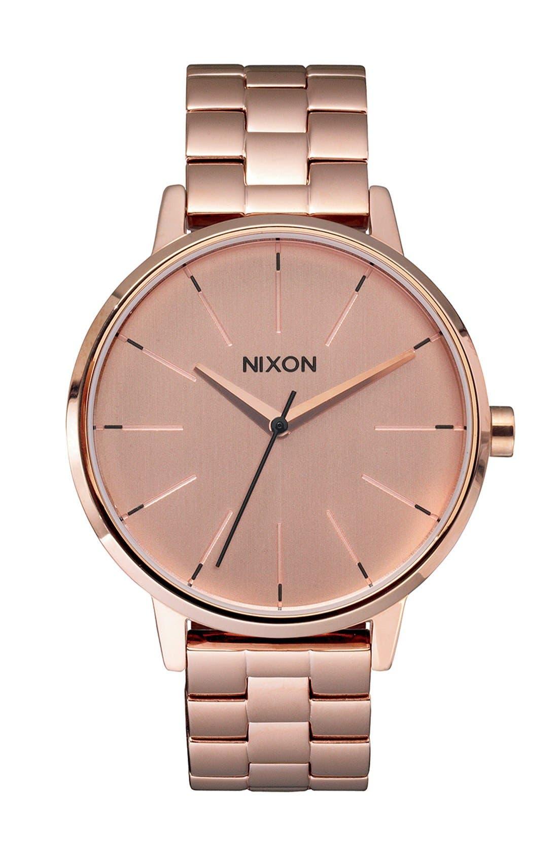 Alternate Image 1 Selected - Nixon 'The Kensington' Round Bracelet Watch, 37mm