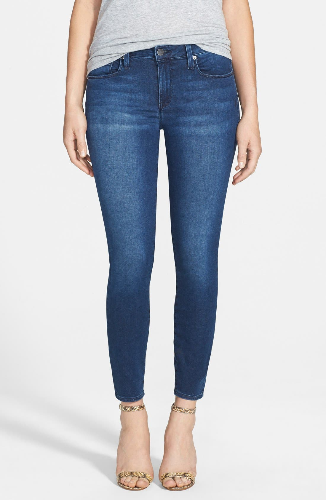 Main Image - Genetic 'Brooke' Crop Skinny Jeans (Riot)