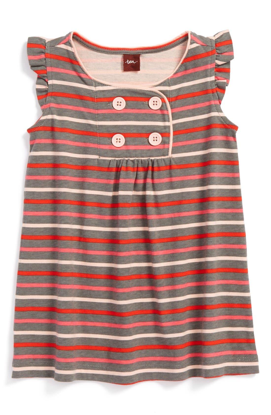 Alternate Image 1 Selected - Tea Collection 'Altstadt' Stripe Cotton Jersey Dress (Toddler Girls, Little Girls & Big Girls)