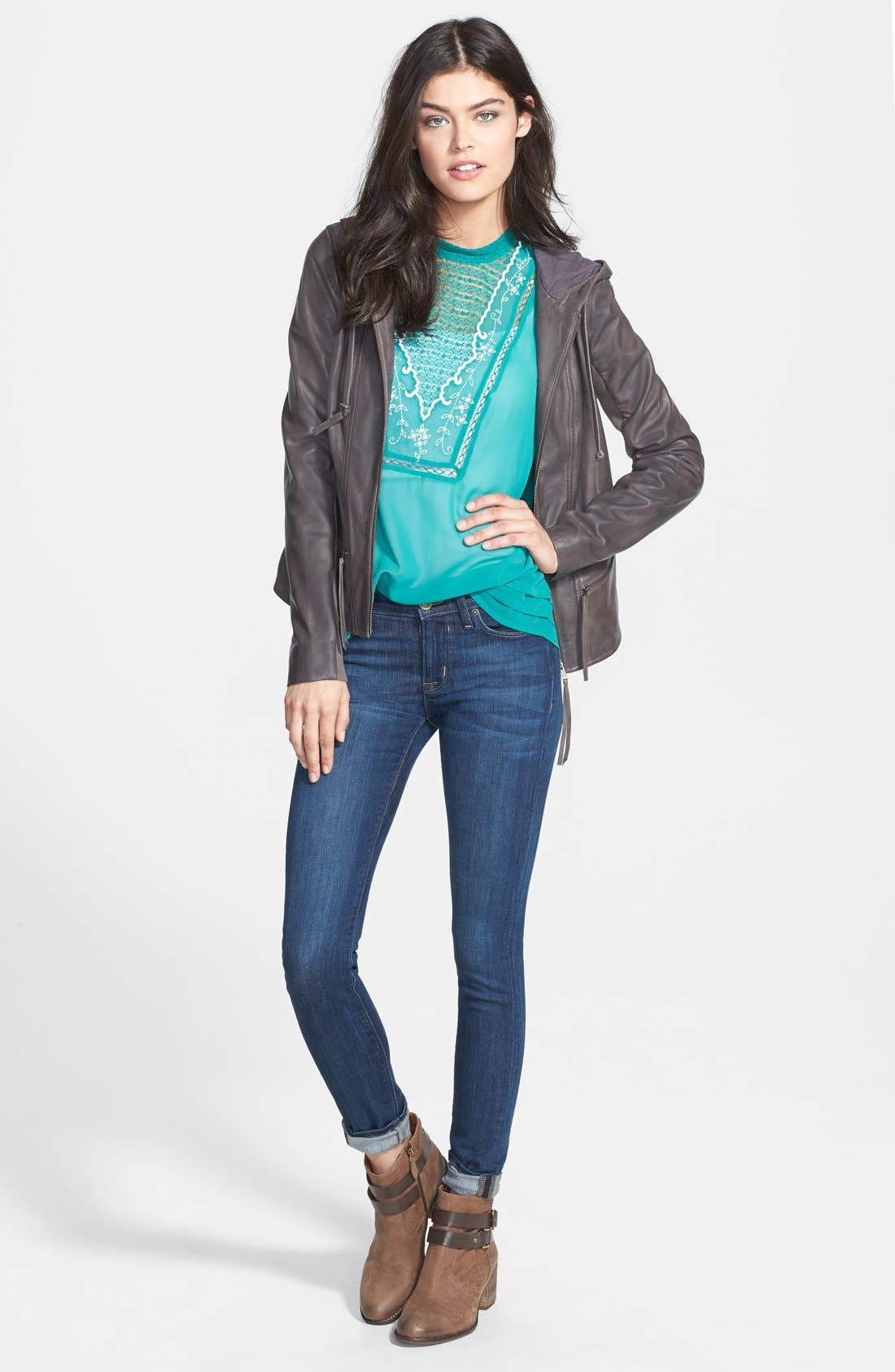 Alternate Image 7  - Hudson Jeans 'Collette' Skinny Jeans (Cascade) (Nordstrom Exclusive)