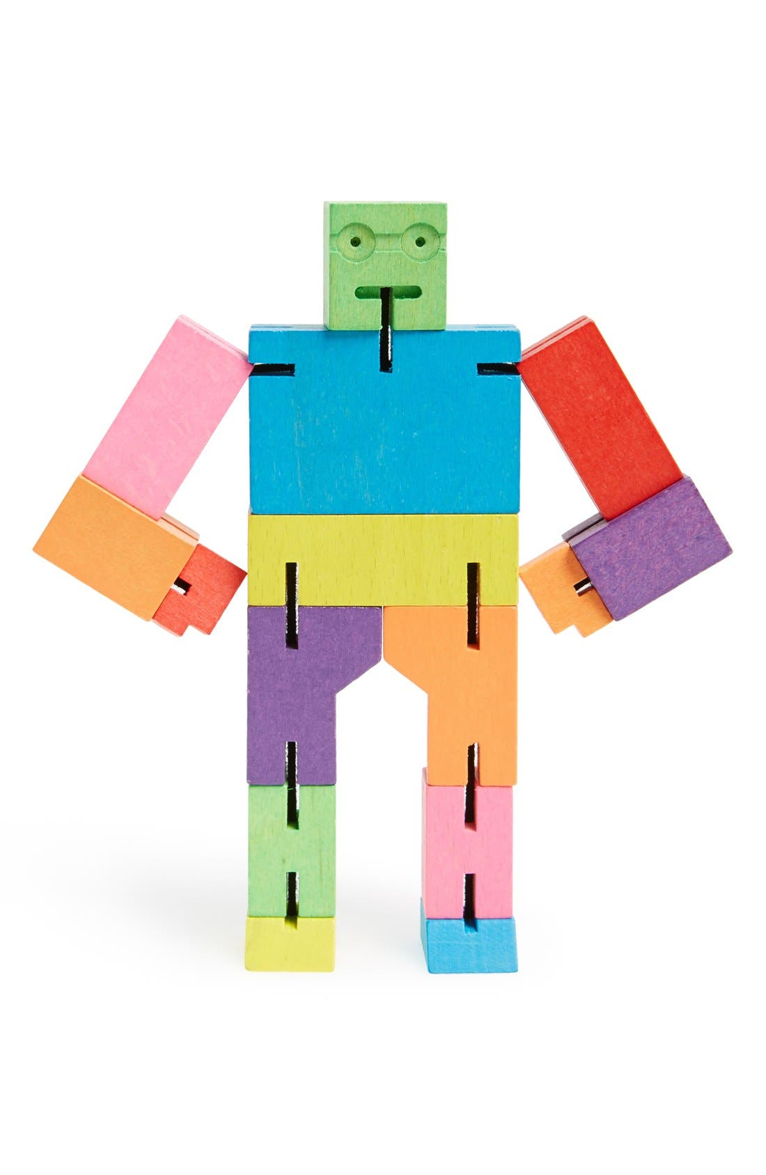 Main Image - Areaware 'Small Cubebot' Wooden Robot Toy