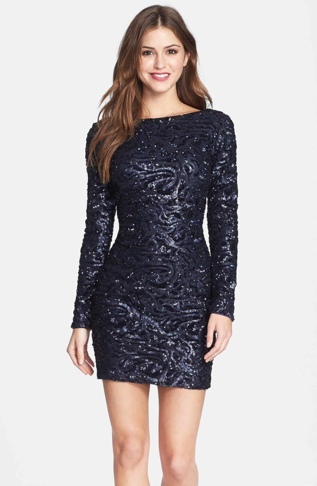 Main Image - Dress the Population 'Lola' Sequin Body-Con Dress (Nordstrom Online Exclusive)
