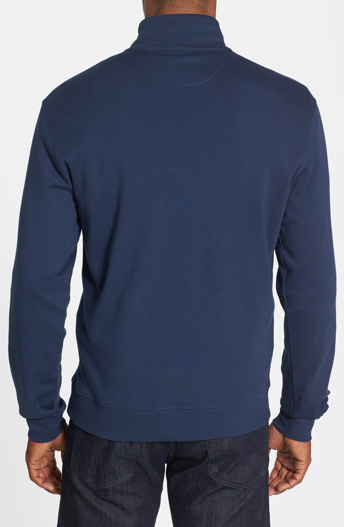 Alternate Image 2  - Vineyard Vines Quarter Zip Cotton Jersey Sweatshirt
