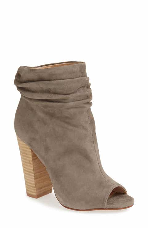 Grey Open Toe Booties For Women Nordstrom