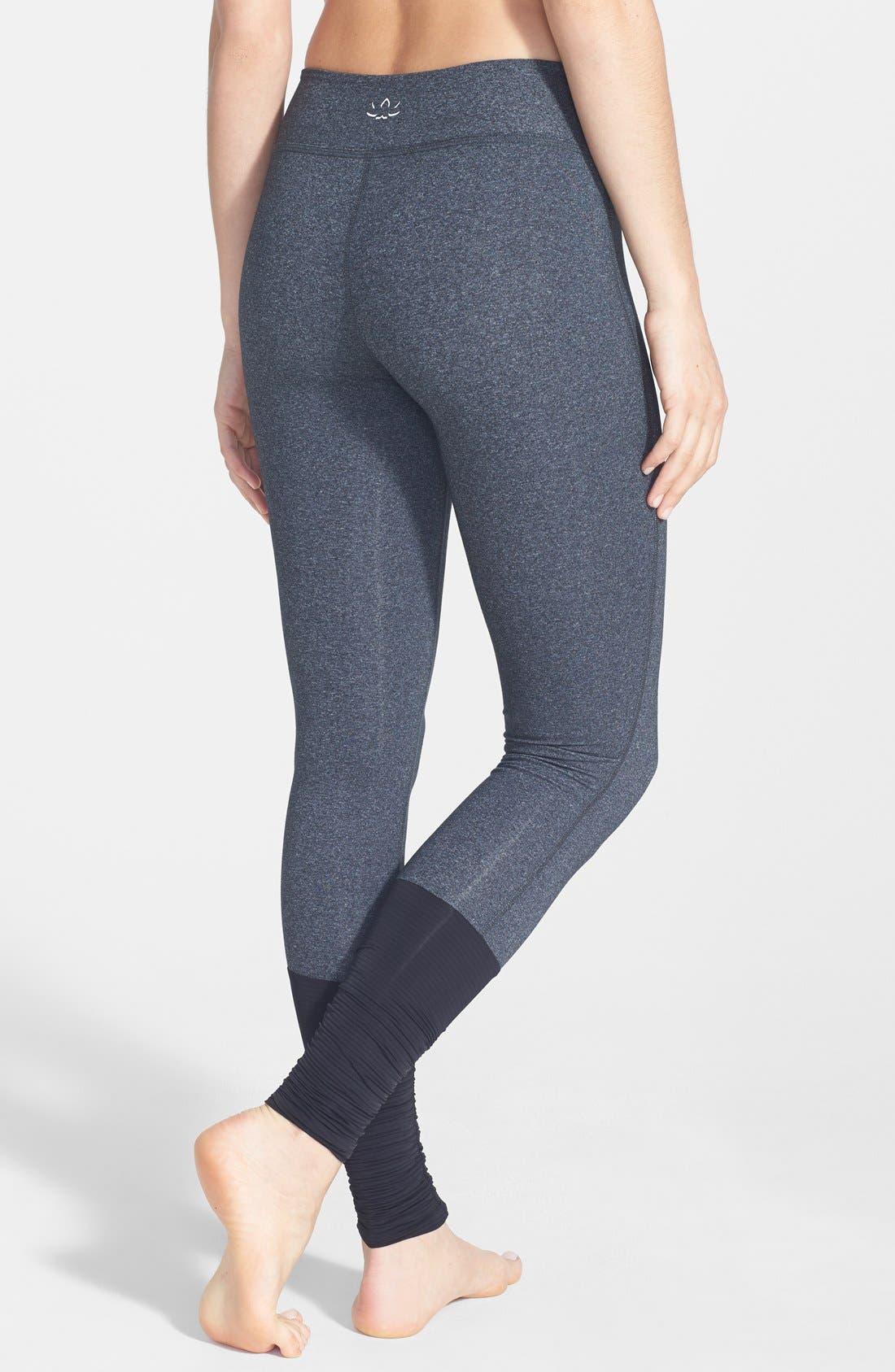 Alternate Image 2  - Beyond Yoga Shirred Hem Leggings