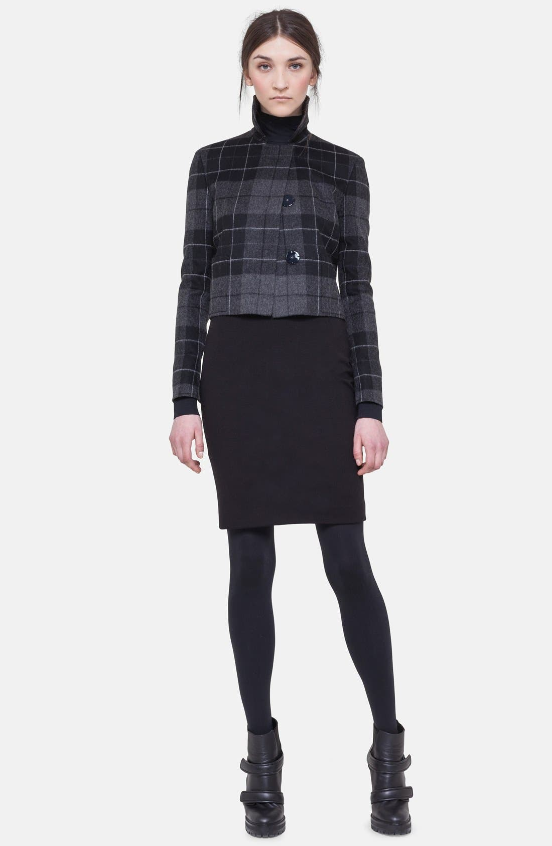 Main Image - Akris punto Cropped Flannel Jacket