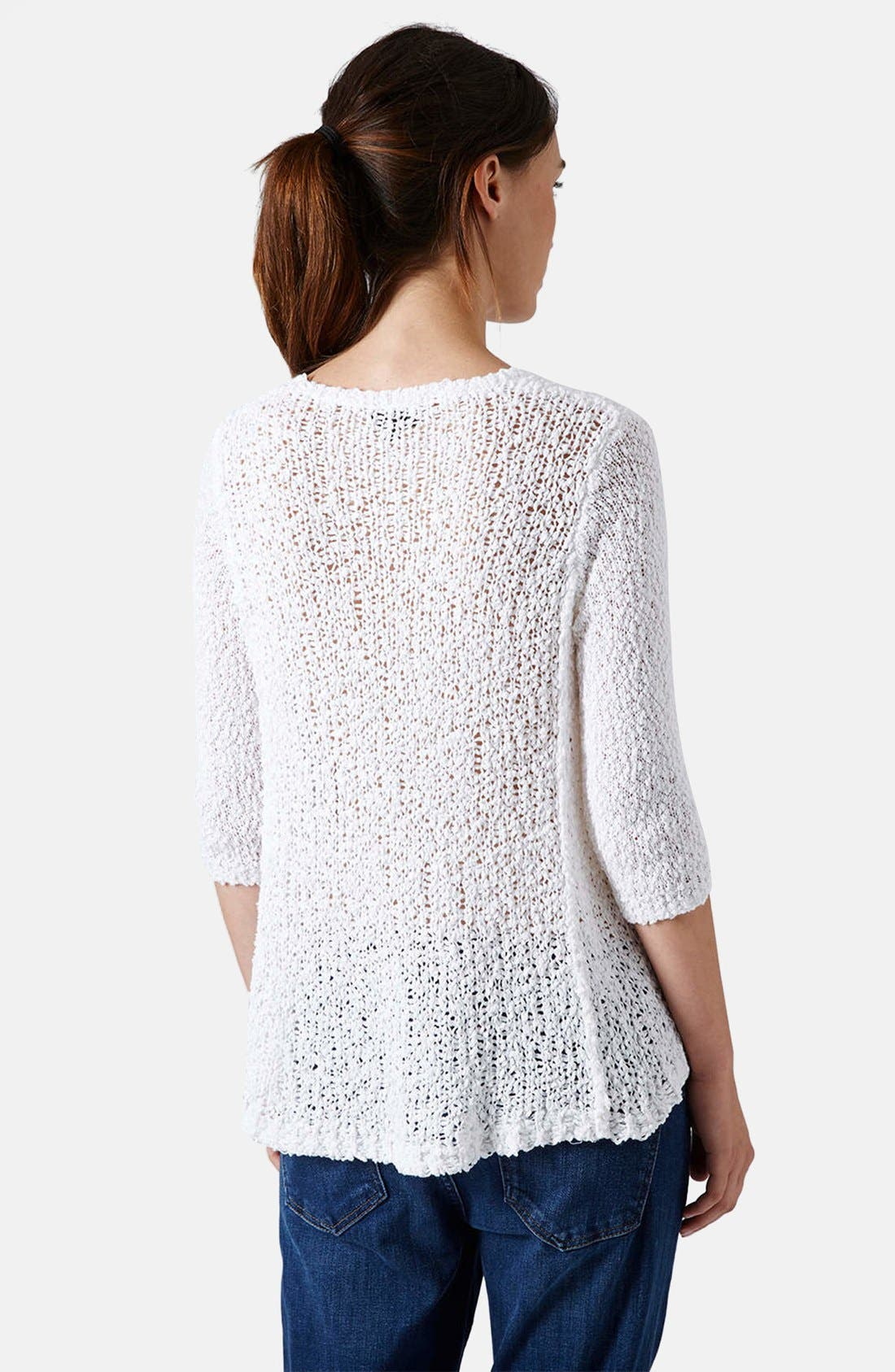 Alternate Image 2  - Topshop Slubby Swing Sweater