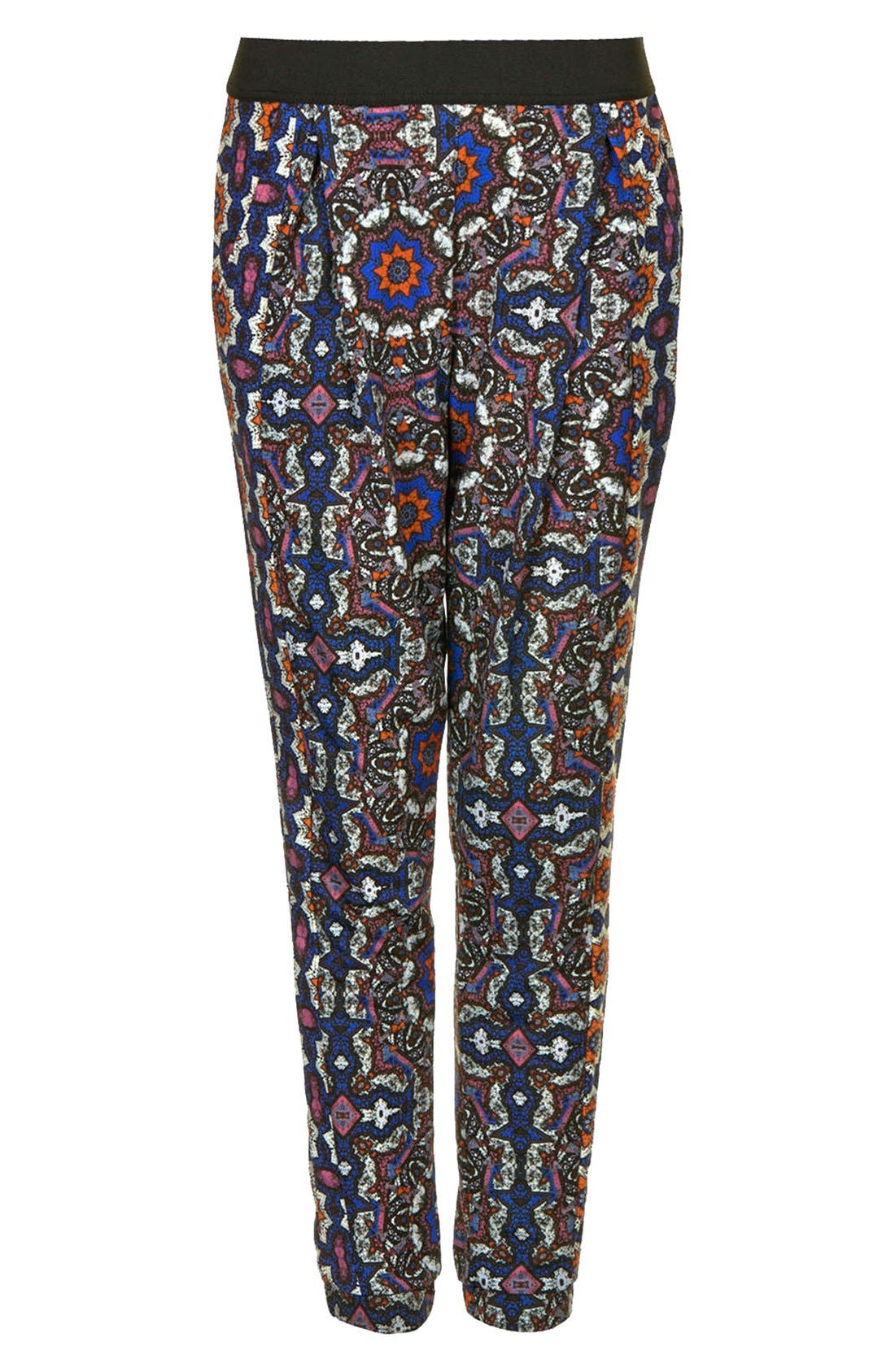 Alternate Image 3  - Topshop Kaleidoscope Print Tapered Pants