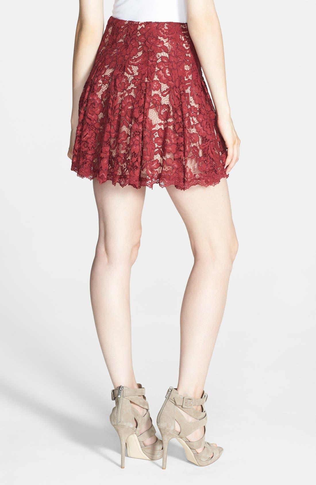 Alternate Image 2  - ASTR Lace Flare Skirt